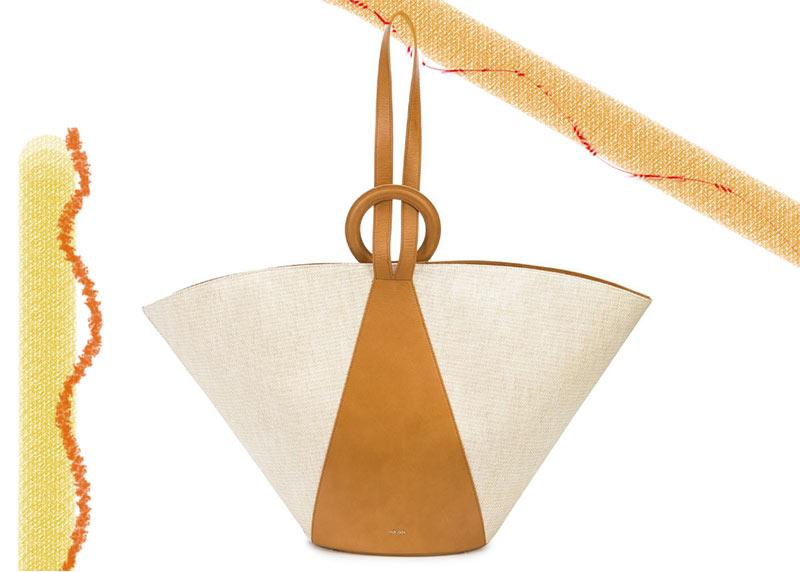 Las mejores bolsas de Cult Gaia: Cult Gaia Roksana Bolsa de tela