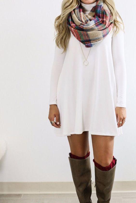 7 formas de llevar un vestido en invierno